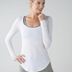 Lululemon White Inner Essence Long Sleeve